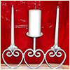 Iron Pillar Candle holder