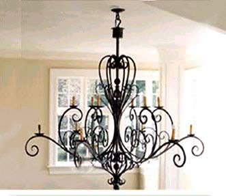 Wrought iron chandelier lamp wrought iron chandelier and antique wrought iron chandelier lamp aloadofball Gallery