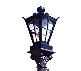 Wrought Iron Garden Lamp