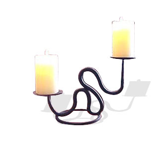 Wrought Iron Votive Candle Holder